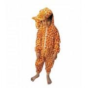 Kaku Fancy Dresses Giraffe Wild Animal Costume -Brown for Boys Girls