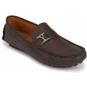 Afrojack MenS Brown Designer Loafers