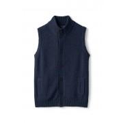 ランズエンド LANDS' END メンズ・コットンメリノ・クロスニット・ベスト(ディープインディゴヘザー)