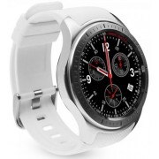 "Smartwatch iUni DM368, 1.39"", GPS, Bratara silicon (Alb)"