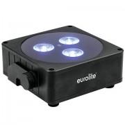 EuroLite AKKU Flat Light 3 sw Luz de batería