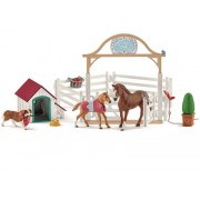 Schleich Horse Club Hannah's Gästhästar med Tiken Ruby 42458