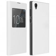 Avizar Funda Libro con Ventana Blanca para Sony Xperia L1