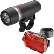 Merkloos Fietsverlichting set kop en achterlamp LED waterafstotend