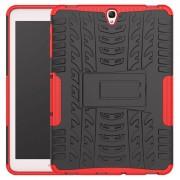 Capa Híbrida Antiderrapante para Samsung Galaxy Tab S3 9.7 - Vermelho / Preto