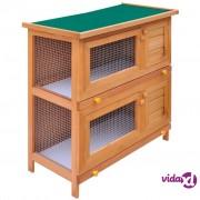 vidaXL Vanjski kavez kućica za male životinje i kućne ljubimce 4 drvena vrata