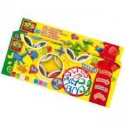 Детски комплект с пластелин и формички, SES, 080642