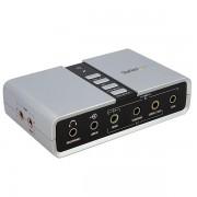 Tarjeta de sonido Startech 7.1/USB/C-Media CM6206, ICUSBAUDIO7D