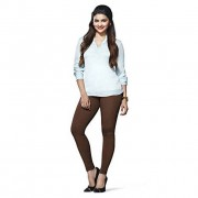 LUX Lyra Cotton Stretchable Full length Churidar Lycra Leggings for women - Brown