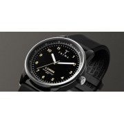 TRIWA Midnight Rubber Lomin Watch Black