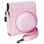 Katia Instant Camera PU Leather Case with Shoulder Strap for Fujifilm Instax Mini 8 Instant Camera (Pink)