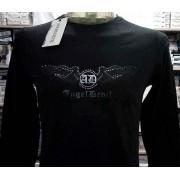 Angel Devil T-shirt maglia uomo AngelDevil manica lunga con stampa e borchie