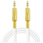 Maxy $$ Cavo Audio Jack 3,5mm-Jack 3,5mm Connetore Placcato Oro 2m White Bulk Per Modelli A Marchio Nokia