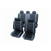 PETEX Universele stoelhoezen polyester grijs PETEX /