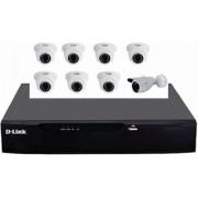 D-LINK 8CH DVR F1108 HD + 8 HD CAMERA SET
