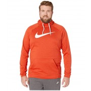 Nike Big amp Tall Dry Hoodie Pullover Swoosh Team OrangeNight MaroonHeatherWhite