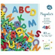 Drewniane literki magnetyczne dla dzieci ALFABET - litery do nauki alfabetu DJECO DJ03101
