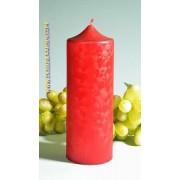 Candles by Milanne XXL Klok kaars, ROOD POLYMICO, hoogte 19 cm - kaarsen