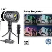 Laser-Projektor, bewegter Sternen-Regen-Lichteffekt, rot & grün, IP44 | Laser Projektor