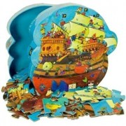 Puzzle silueta - Corabia Barbarosa, 54 piese
