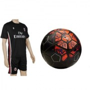 Combo of CR7 Red/Black Football (Size-5) with Suit (Jersey + Shorts)