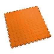 Oranžová vinylová plastová dlaždice Light 2080 (penízky), Fortelock - délka 51 cm, šířka 51 cm a výška 0,7 cm