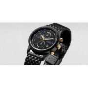 TRIWA Midnight Lansen Chrono Brushed Watch Black