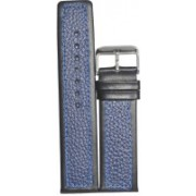 Kolet Dotted Multi 22BUBL 11 mm Leather Watch Strap(Blue, Black)