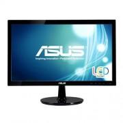 "Asustek ASUS VS207NE - Monitor LED - 19.5"" (19.5"" visível) - 1600 x 900 - TN - 200 cd/m² - 600:1 - 5 ms - DVI-D, VGA - preto"