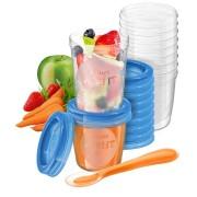 Philips Almacenamiento de alimentos infantiles SCF721/20 10 x 240 ml, 10 x 180 ml