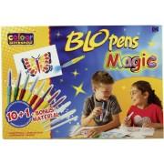 Set aerografe tip stilou (BLO pens) pentru copii, 11 buc., Malinos