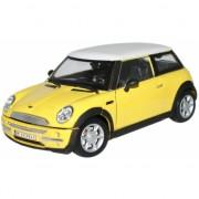 Schaalmodel Mini Cooper geel 1:24