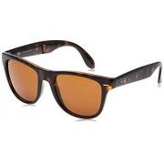 Ray-Ban RB4105 anteojos de sol plegables, Habana clara/marrón., 54 mm