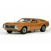 Sun Star 1971 Ford Mustang Sports roof, Brown - 3619 1/18 Scale Diecast Model Toy Car