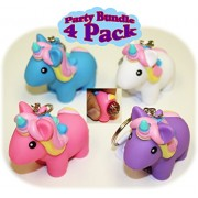 Animolds PooPoo Unicorn (Glitter Pooping Unicorns) Keychains Pink