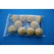 10 Balles de Baby-Foot liège jaune
