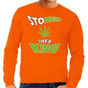 Bellatio Decorations Koningsdag fun sweatshirt Stoned oranje heren