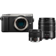 PANASONIC Hybride camera Lumix DMC-GX80 + 14-42mm + 45-150mm + Case (DMC-GX80 DZK HPACK)