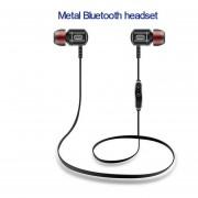 Audífonos Bluetooth, S8 Sport In-Ear Auricular Inalámbrico Anti-sudor Auriculares De Metal Audifonos Bluetooth Manos Libres V4.1 Auriculares 1 Para 2 Teléfonos Con Micrófono (Negro)