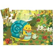 Djeco Snail Goes Plant Picking Silhouette Puzzle (24 pc)