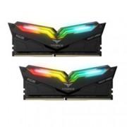 16GB (2x8GB) DDR4 3000MHz, Team Group T-Force Night Hawk RGB, TF1D416G3000HC16CDC01, 1.2V, RGB програмируема подсветка, черен Heatspreader