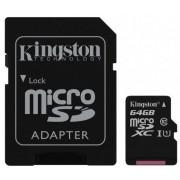Memorija Micro SD 64GB Kingston, Class 10 + adapter, UHS-I 10MB/s, SDCS/64GB