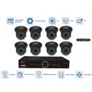 8 vstupový kamerový set - 8x kamera 1080P s 20m IR a AHD DVR