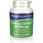 Simply Supplements Ginseng Coreano 2000mg - 120 Comprimidos