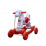 Abasr Baby Kids Ramya Avstha Red And White Ride On Horse Fancy