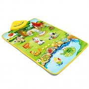 Generic Baby Children Farm Animal Music Sound Touch Play Singing Gym Carpet Mat Toy Gift One Piece
