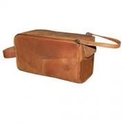 Style98 100% Leather Unisex Multi Purpose Toiletry Bag||Toiletry Kit||Toiletry Pouch||Handbag||Travel Toiletry kit||Toiletry Organiser||Cash Bag||Pencil case||Cosmetic Pouch||shaving kit||shaving kit pouch