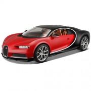 Macheta auto Bugatti Chiron - rosu cu negru