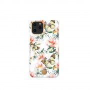 KINGXBAR Flower Series PC Phone Cover with Magnetic Sheet for Apple iPhone 11 6.1 inch - Butterfly
