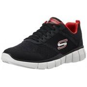 Skechers Men's Equalizer 2.0- True Balan Black and Red Sneakers - 7 UK/India (41 EU) (8 US)